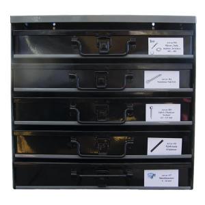PAKET - 5st kompletta sortimentslådor + ställ