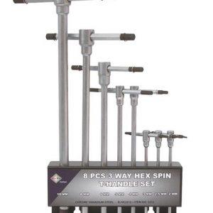 Insexnycklar m T-grepp i metal 2-10/ställ