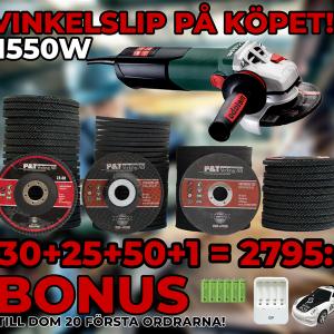 Kap&Slip-paket inkl 125mm Metabo vinkelslip