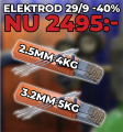 Svetselektroder 29/9 2.5mm 4kg + 3.2mm 5kg PAKETPRIS!