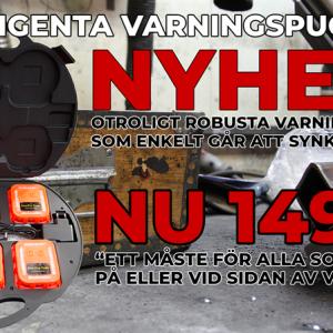 Varningspuckar Intelligenta i väska 6 st ny modell!