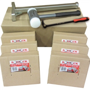 Hjulmuttersäkring Roll-lock Startkit 150st +mont verktyg